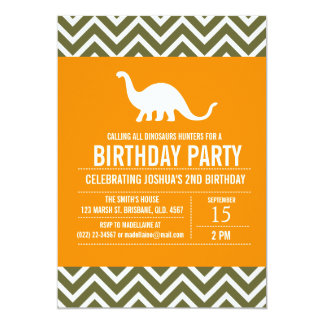Custom Dinosaurs Birthday Party Invitation for Boy