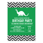 Custom Dinosaurs Birthday Party Invitation for Boy 13 Cm X 18 Cm Invitation Card