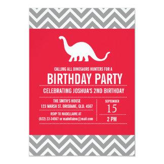 Custom Dinosaurs Birthday Party Invitation for Boy