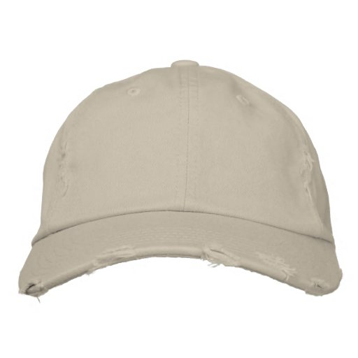 Stone District Threads Distressed Chino Twill Cap Embroidered Hat
