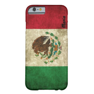 Custom Distressed Mexican Flag iPhone 6 case Barely There iPhone 6 Case