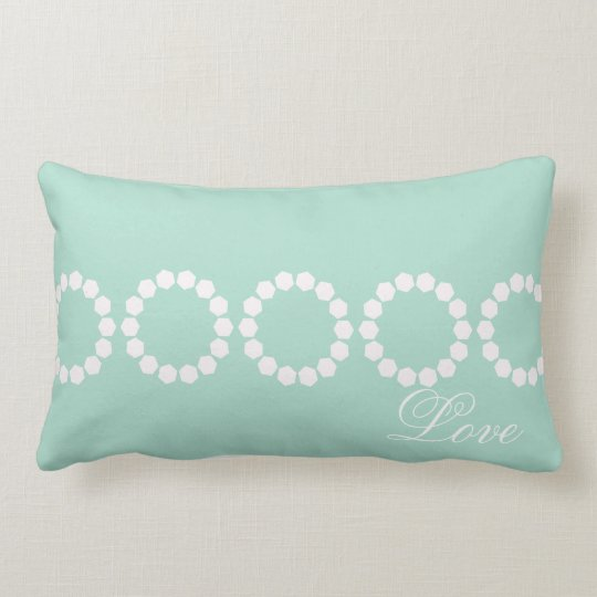 Custom Divine Mint Green Retro Style Lumbar Cushion
