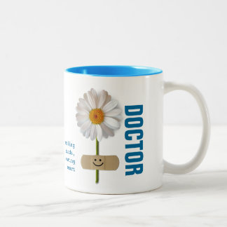 Custom Doctor's Name Smiling Daisy Gift Mugs