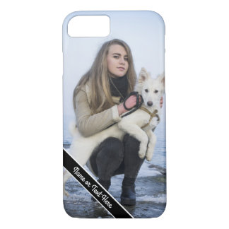 Custom Dog and Girl Photo Phone Case