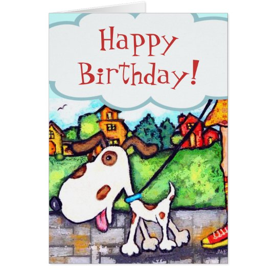 Custom Dog Birthday Card