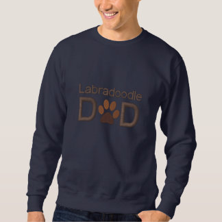 Custom Dog Breed Labradoodle Dad with Paw Embroidered Sweatshirt
