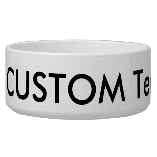 Custom Dog, Cat, Pet Bowl, Large 40oz. Ceramic