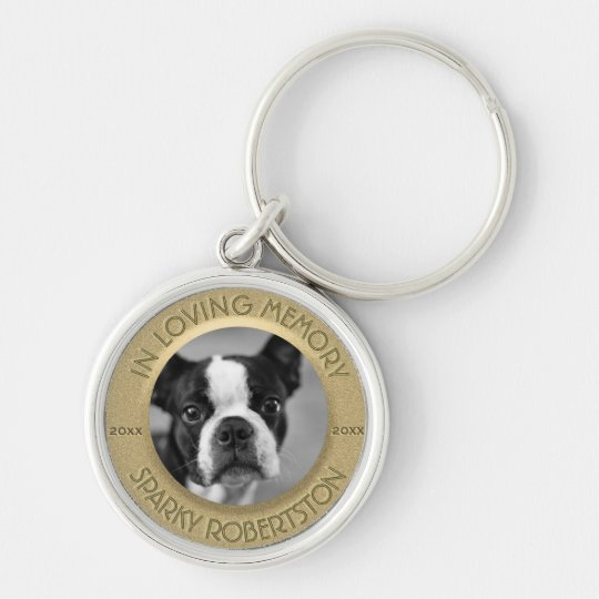Custom Dog Memorial Key Ring