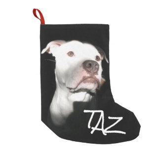 Custom Dog Name Photo Small Christmas Stocking