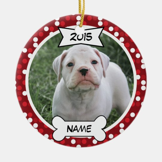 Custom Dog Photo Ornament