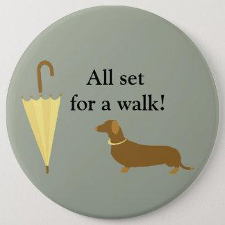 Custom Dog Walker Pet Lover Button