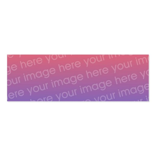 Custom Double Photo Bookmark w/Emerson Quote Business Card Template