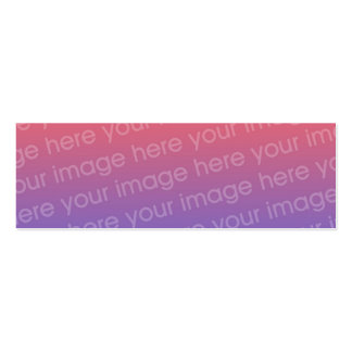 Custom Double Photo Bookmark w/Emerson Quote Pack Of Skinny Business Cards