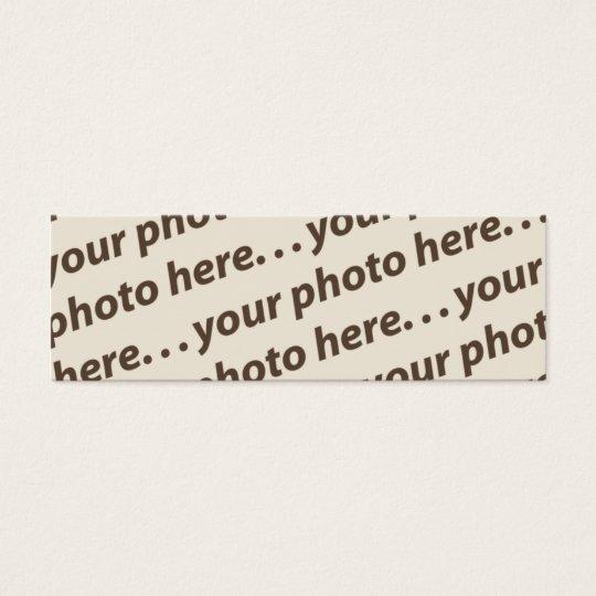 Custom Double Photo Bookmark w/Thoreau Quote Mini Business