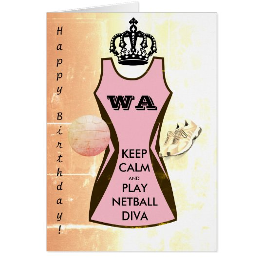Custom Dress Colour Keep Calm and Play Netball