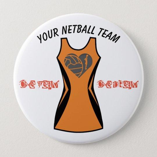 Custom Dress Colour Personalised Netball badge