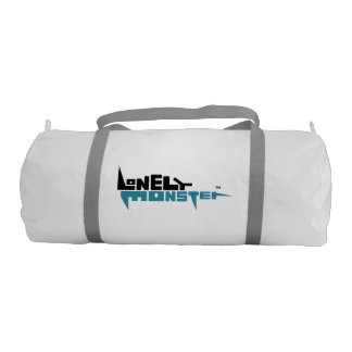 Custom Duffle Gym Bag - Back/Teal Logo Gym Duffel Bag