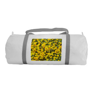 Custom Duffle Gym Bag In Wildflowers