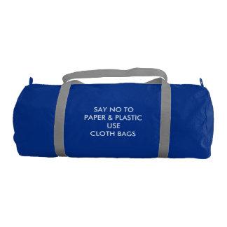 Custom Duffle Gym Bag, Regatta Blue with Silver st Gym Duffel Bag