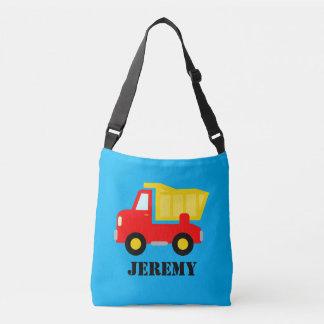 Custom dump truck cross body bag for school kids tote bag