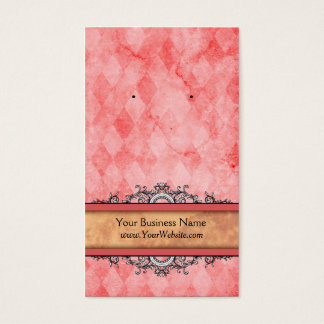 Custom Earring Cards Red Vintage
