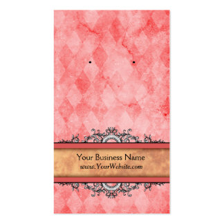 Custom Earring Cards Red Vintage Pack Of Standard Business Cards
