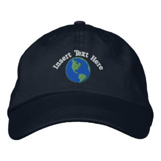 Custom Earth Embroidered Hat