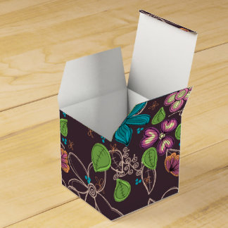 Custom Earthly Floral Classic Favour Box