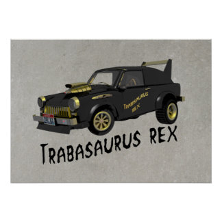Custom East German Trabant Car Poster