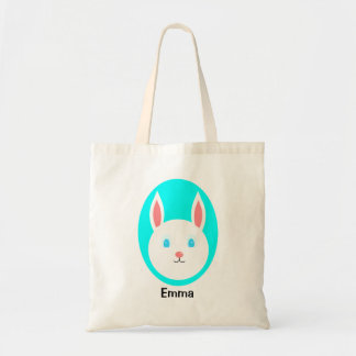 Custom Easter Bunny Tote with Blue