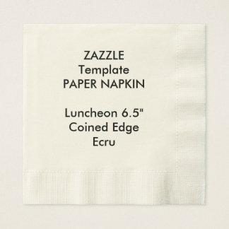 Custom ECRU Coined Luncheon Paper Napkin Template