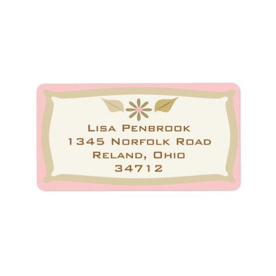 Custom Elegant Address Label