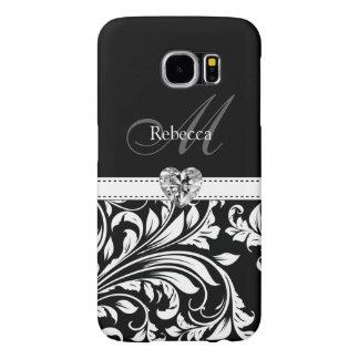 Custom Elegant Black and White Damask Samsung Galaxy S6 Cases
