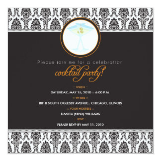 :custom Elegant Damask Cocktail Party Invitation_2 Personalized Announcement