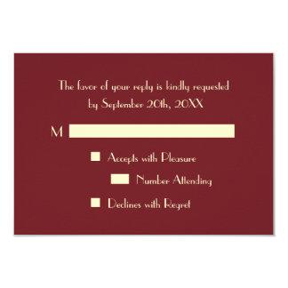 Custom Elegant Party Event RSVP Invitation Card