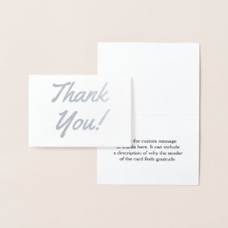 "Custom, Elegant & Personalized ""Thank You!"" Card"