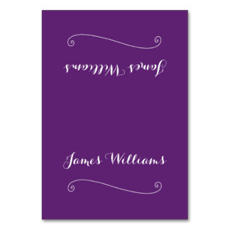 Custom Elegant Purple Place Setting Cards Table Cards