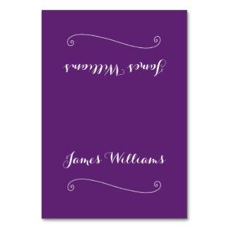 Custom Elegant Purple Place Setting Cards Table Cards