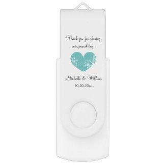 Custom elegant wedding party favor USB flash drive Swivel USB 2.0 Flash Drive