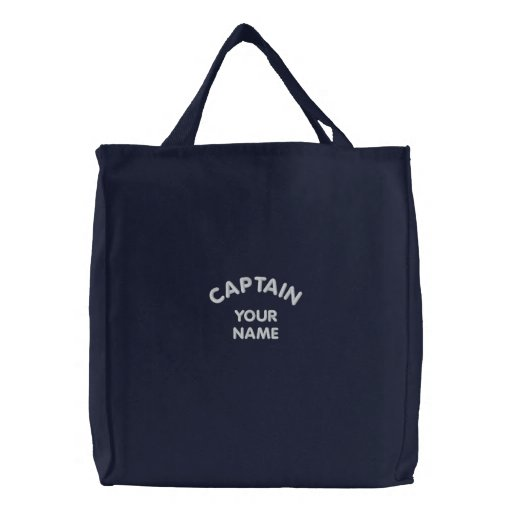 Custom Embroidered Captain Template Bag
