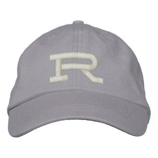 Custom embroidered monogram initial letter hat embroidered cap