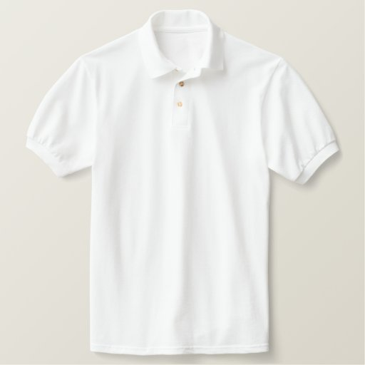 White Embroidered Classic Polo Shirt