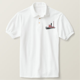 Custom Embroidered Polo- Steam Tugboat Embroidered Polo Shirt