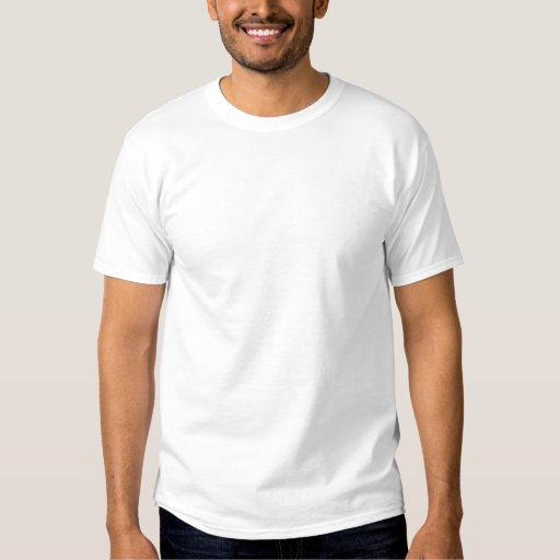 White Embroidered Men's Embroidered Basic T-Shirt