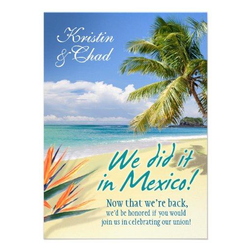 CUSTOM EMERALD WATERS (Mexico) wedding Invitations