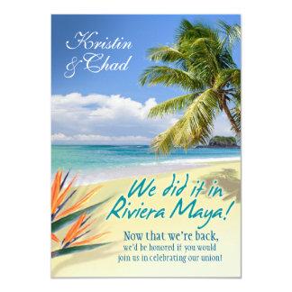 CUSTOM EMERALD WATERS (Riviera Maya) wedding 11 Cm X 16 Cm Invitation Card