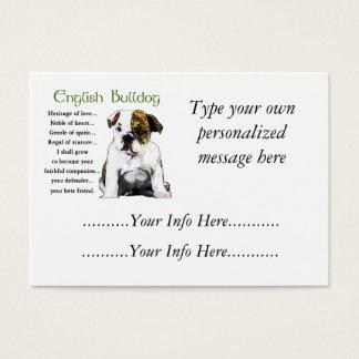 Custom English Bulldog Profile Cards