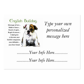Custom English Bulldog Profile Cards Pack Of Chubby Business Cards