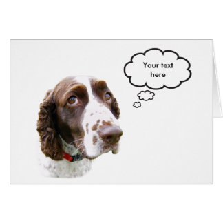 Custom English Springer Spaniel Card