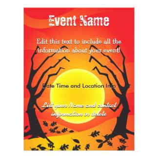 Custom Event Halloween Moon 21.5 Cm X 28 Cm Flyer